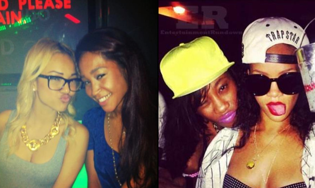 Did Rihanna Crashed Karrueche Tran Rolling Out Party?