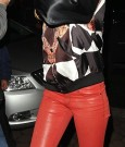 rihanna leather outfit