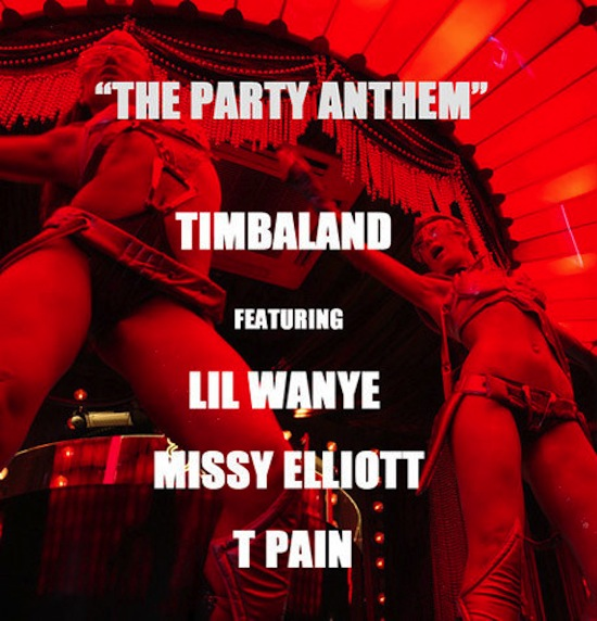 timbaland the party anthem cover