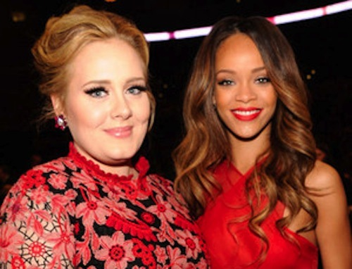Adele and Rihanna pic