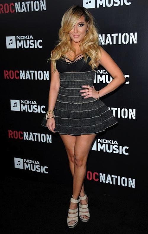 Adrienne Bailon roc nation grammy party