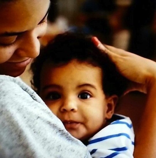 Baby Blue Ivy Carter and Beyonce