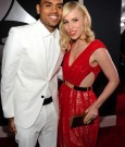 CHRIS BROWN AND NATASHA BEDINGFIELD grammy