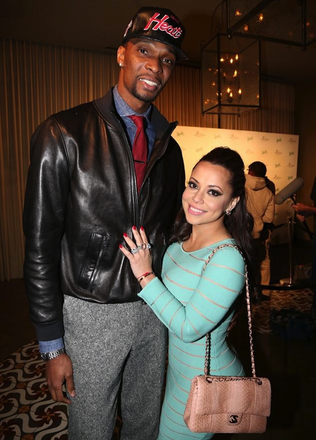 Chris Bosh and wife Adrienne Bosh
