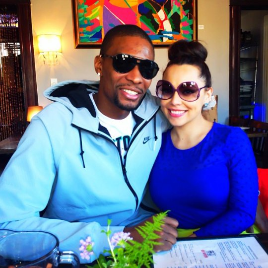 Chris Bosh and wife adrienne photo