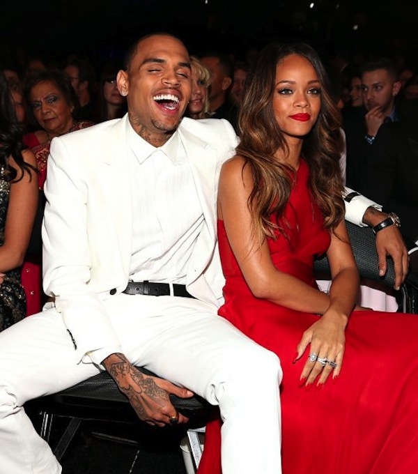 Chris Brown and Rihanna at Grammys 2013 photo