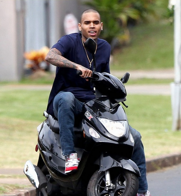 Chris Brown scooter hawaii