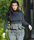 Kim Kardashian departs her home