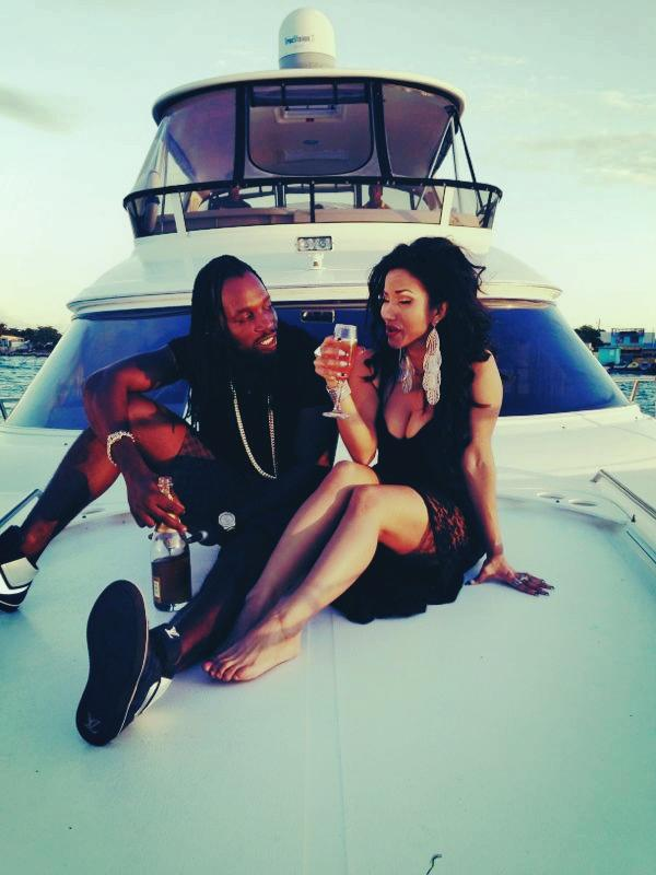 Mavado and Karian Sang video shoot