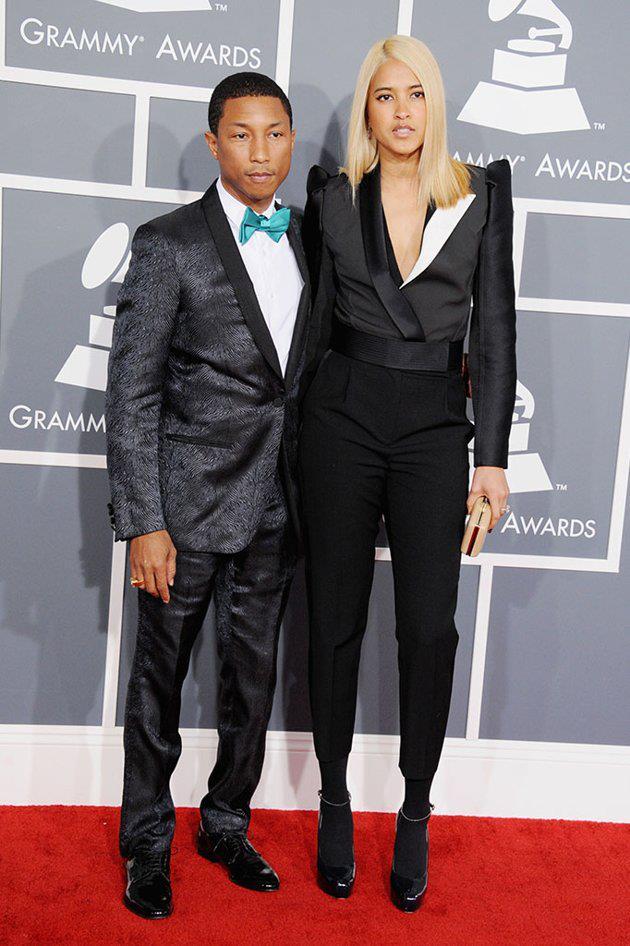 Pharrell and Helen Lasichanh Grammy