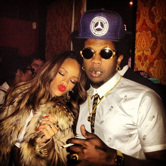 Rihanna Trinidad James Grammy After Party