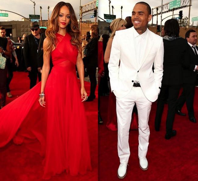 Rihanna and Chris Brown Grammy 2013