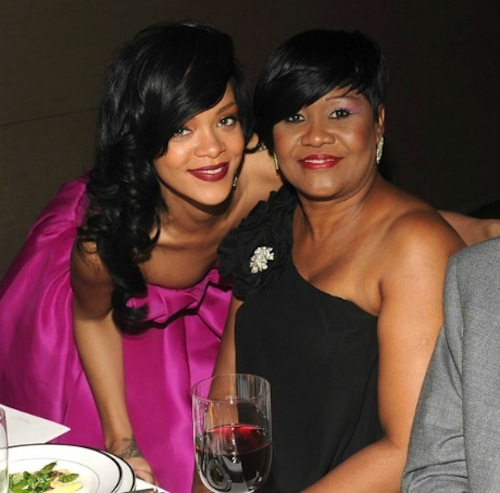 Rihanna and mother monica fenty