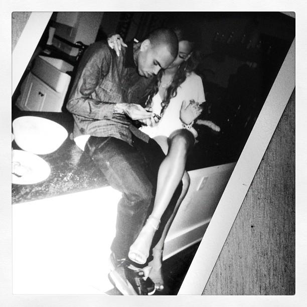 Rihanna chris brown bd party