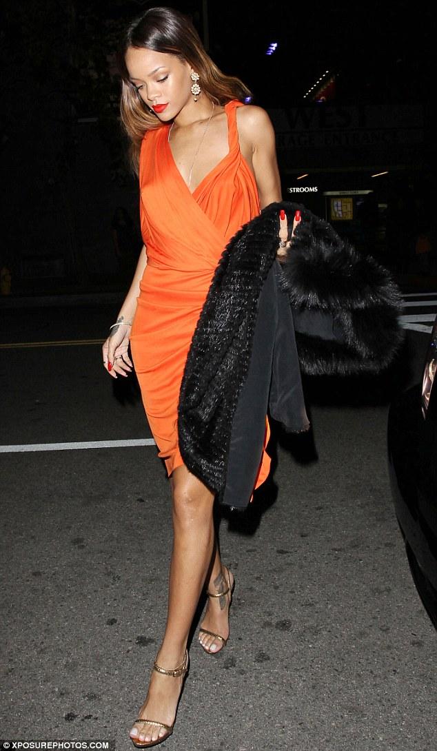 Rihanna orange valentine day