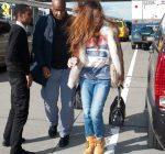 Rihanna shave head NYC 2