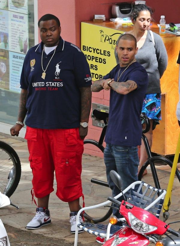 Sean kingston and Chris Brown