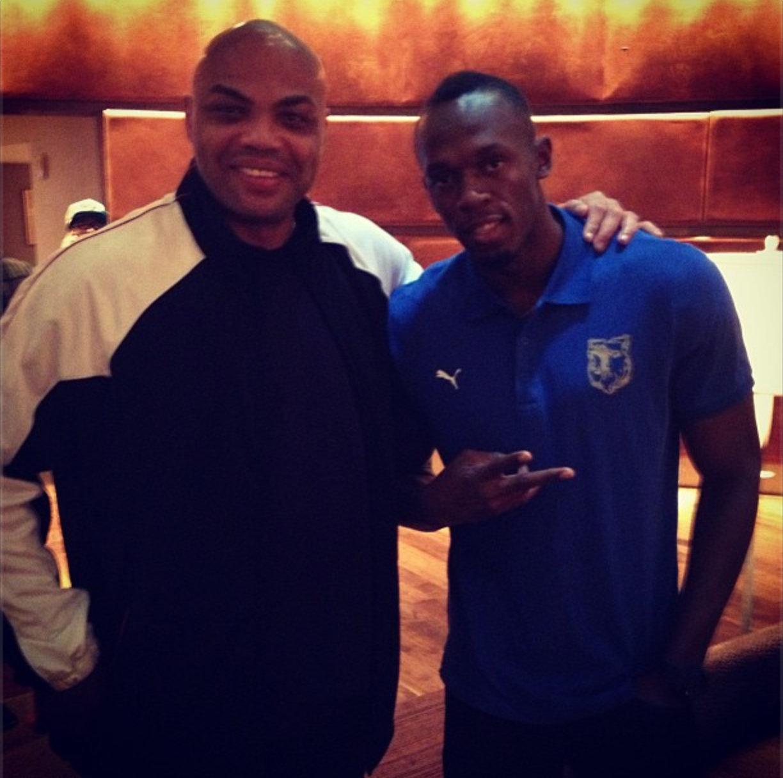 Usain Bolt and Charles Barkley