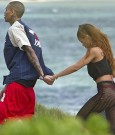 chris abd rihanna hawaii beach