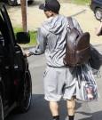 chris brown leaving court