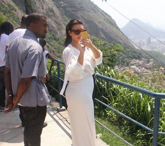 kanye west kim kardashian brazil