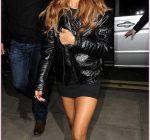 Rihanna arriving back at her London hotel