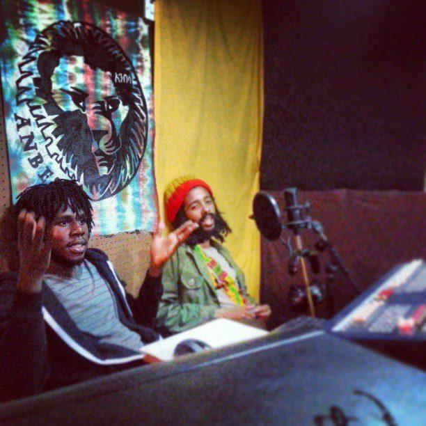 Chronixx and Protoje in studio