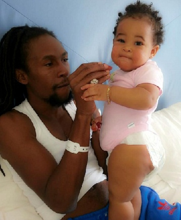 Jah Cure and baby Kailani