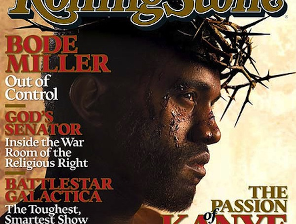 Kanye West rolling stone cover jesus