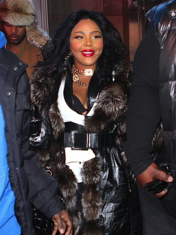 Lil Kim Fur coat