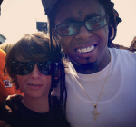 Lil Wayne at pro skateboard contest