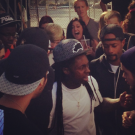 Lil Wayne at pro skateboard contest 3