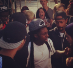 Lil Wayne at pro skateboard contest 3