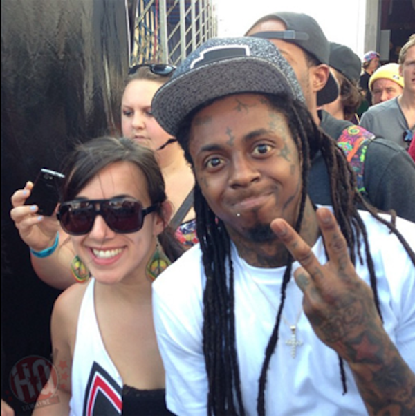 Lil Wayne at pro skateboard contest 6