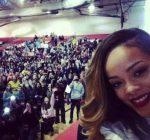 Rihanna at barrington high