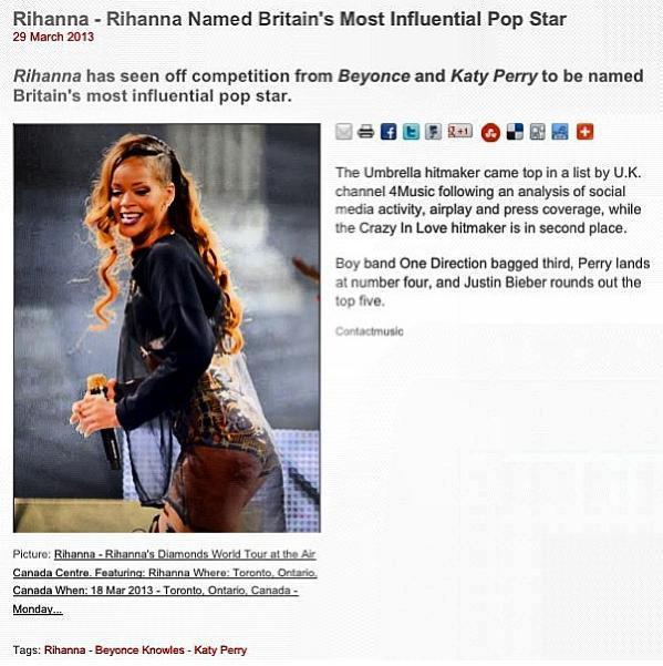 Rihanna diss Beyonce instagram