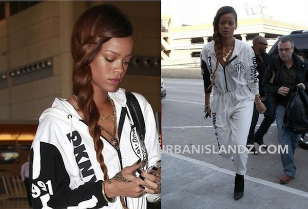 Rihanna Takes Us Back To The 90s In DKNY Jumpsuit [PHOTO]