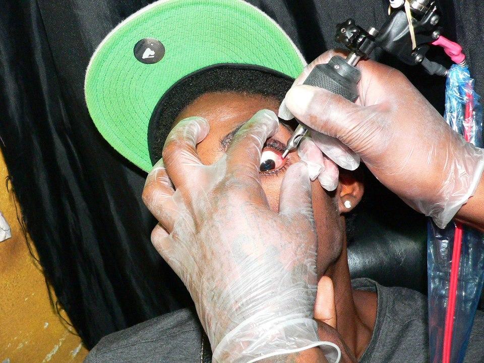 alkaline eye ball tattoo