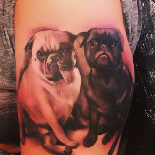 Amber Rose dog tattoo