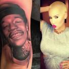 Amber Rose tattoo of Wiz Khalifa