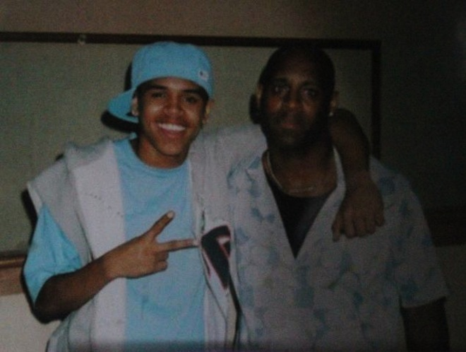 Chris Brown and his father clinton