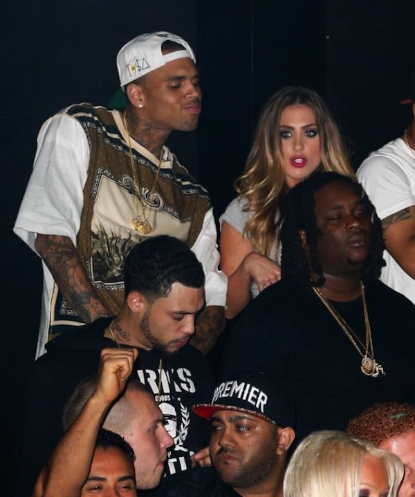 Chris Brown partying 08042013