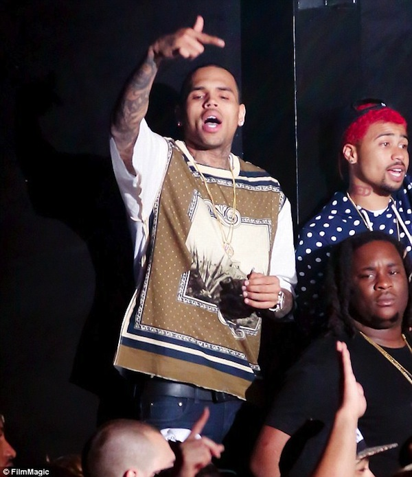 Chris Brown partying