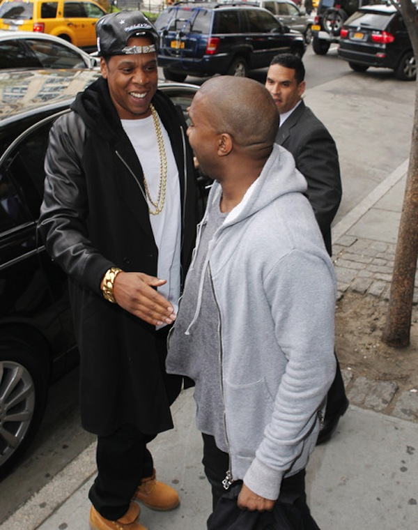 Kanye West and Jay-Z nyc 04242013