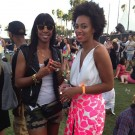 Kelly Rowland and Solange at coachella