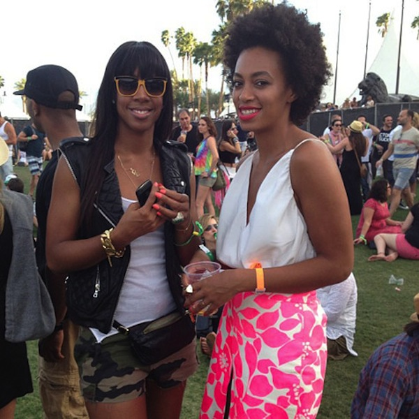 Kelly Rowland and Solange at coachella