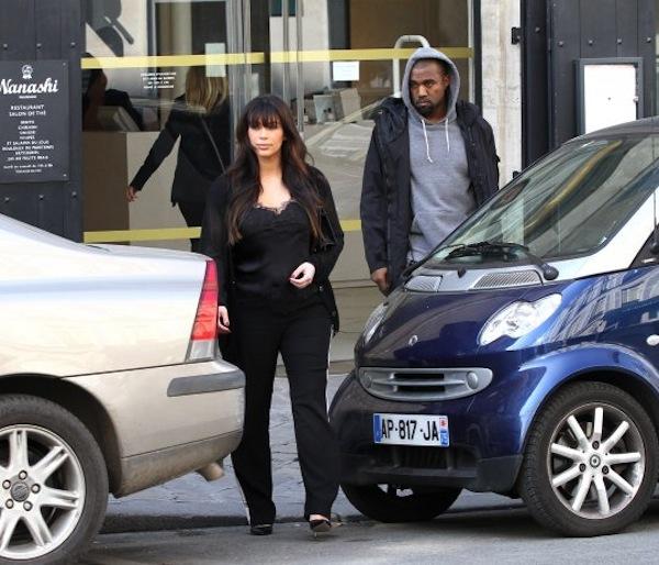 Kim Kardashian and Kanye West paris 1