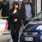 Kim Kardashian and Kanye West paris