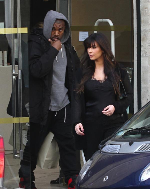 Kim Kardashian and Kanye West paris 4