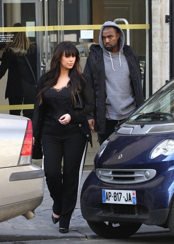 Kim Kardashian and Kanye West paris